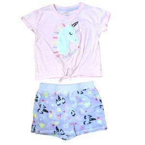 Girls 4T unicorn summer pajamas